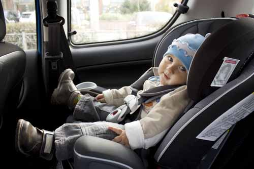 How should baby safety be in vehicles? %>